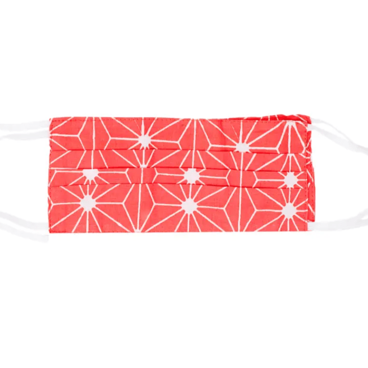 Cloth Face Mask- Coral Geometric