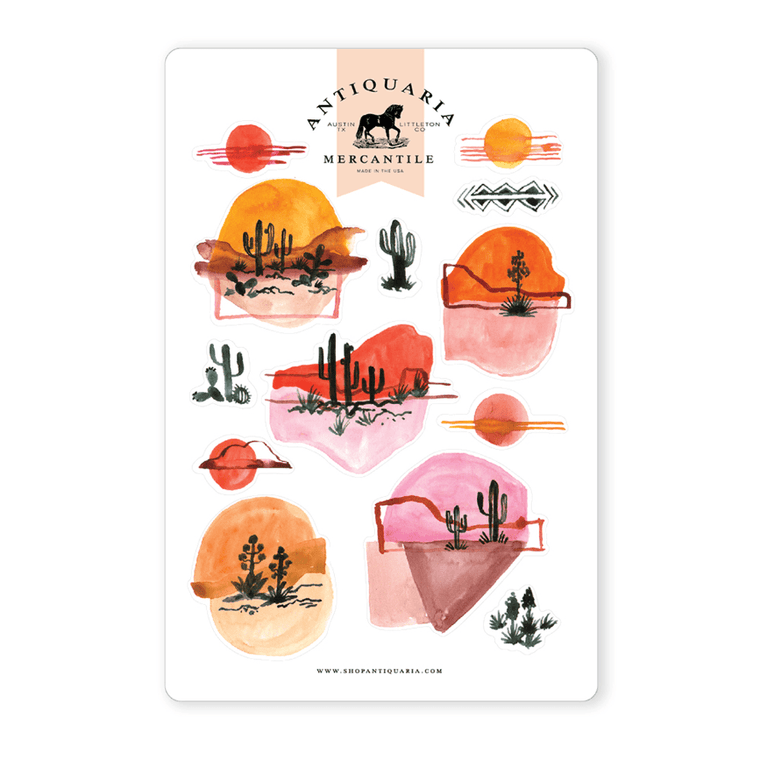 Watercolor Landscapes Stickers