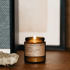 Teakwood + Tobacco Mini Soy Candle
