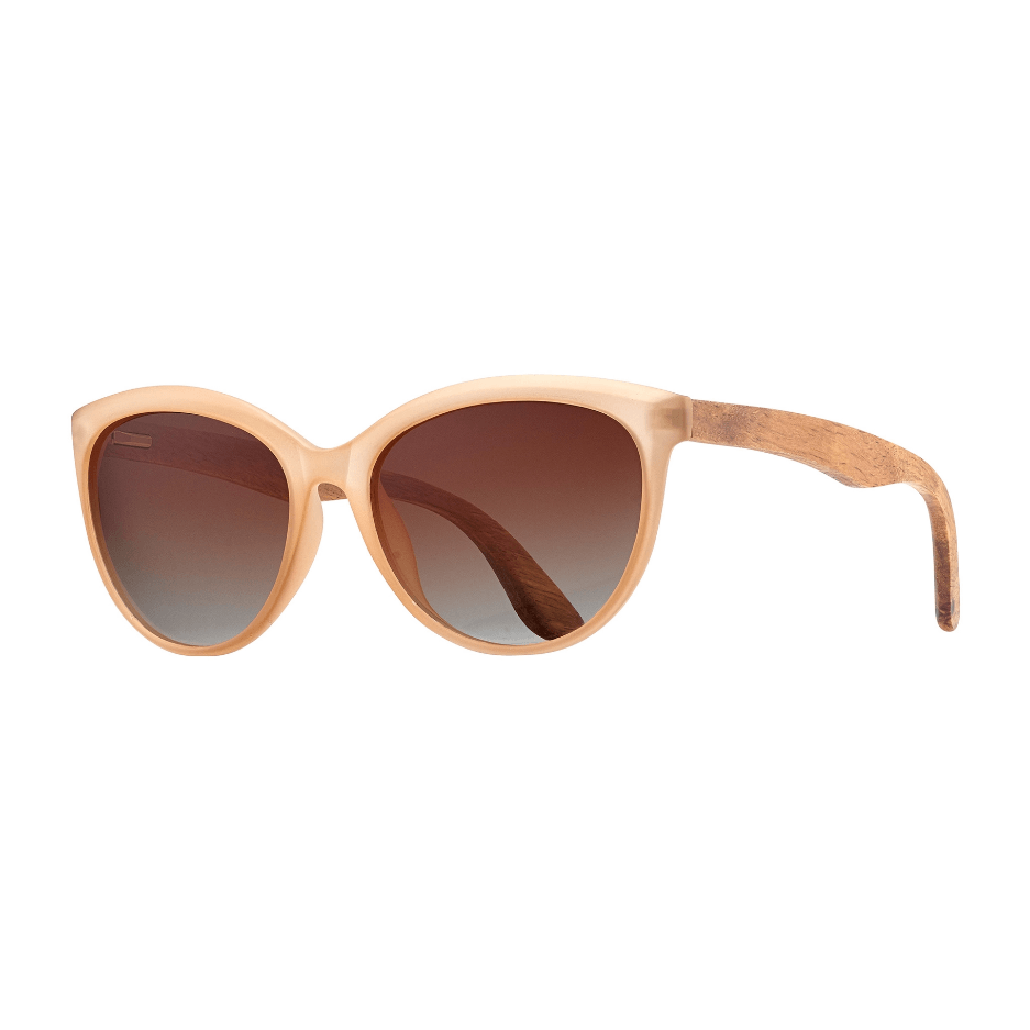 Breah- Matte Beige Walnut Wood Sunglasses