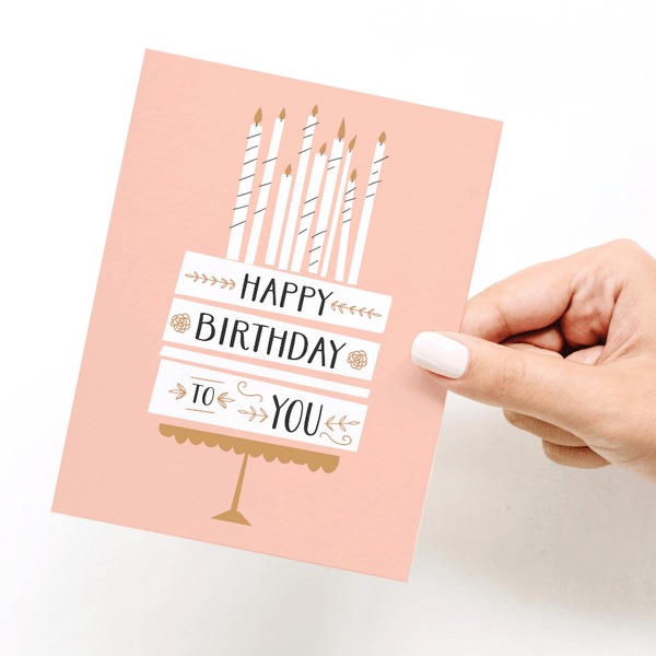 Cake + Candles Birthday Card