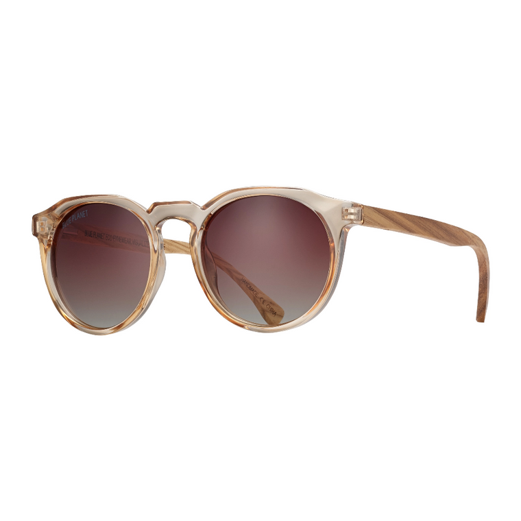 Crystal Champagne/ Wood Sunglasses