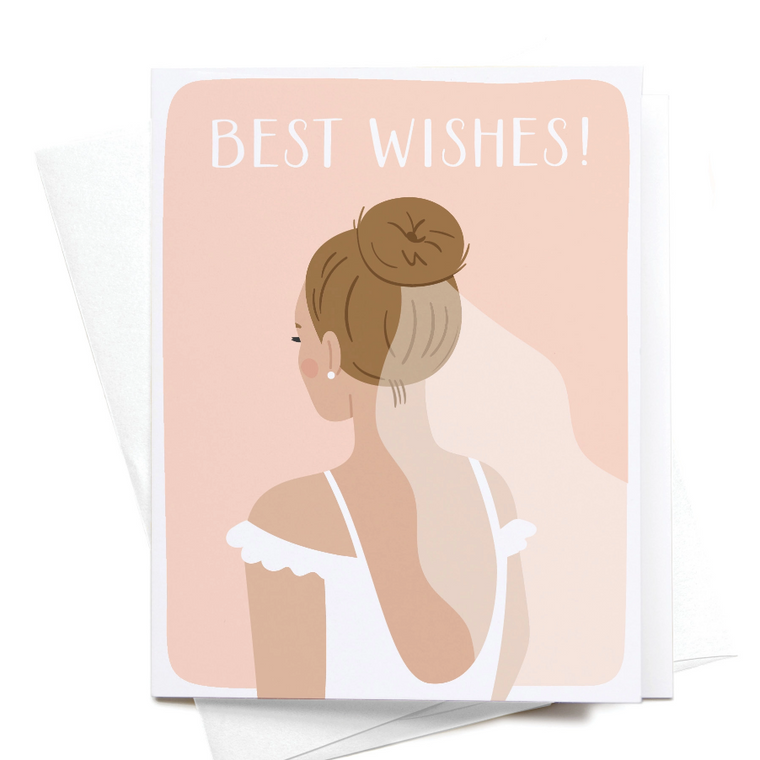 Best Wishes Bride Greeting Card
