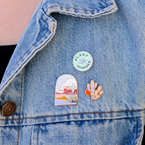 Little Cactus Enamel Pin - Redemption Market