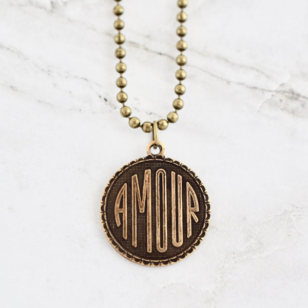 amour coin necklace beljoy