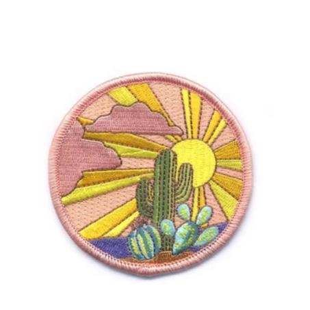 Sunrise Cactus Iron-on Patch - Redemption Market