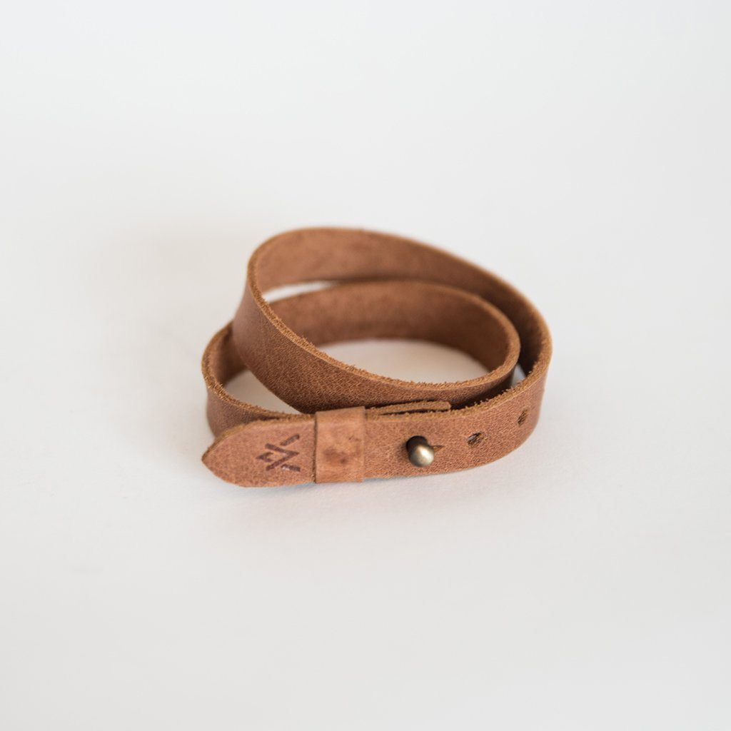 Double Wrap Leather Bracelet - Elevate People - Redemption Market