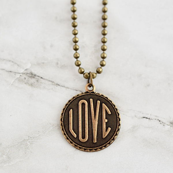 love coin necklace beljoy