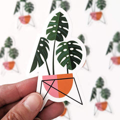 Monstera Plant Vinyl Sticker