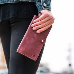 Leather phone wallet by Elevate People