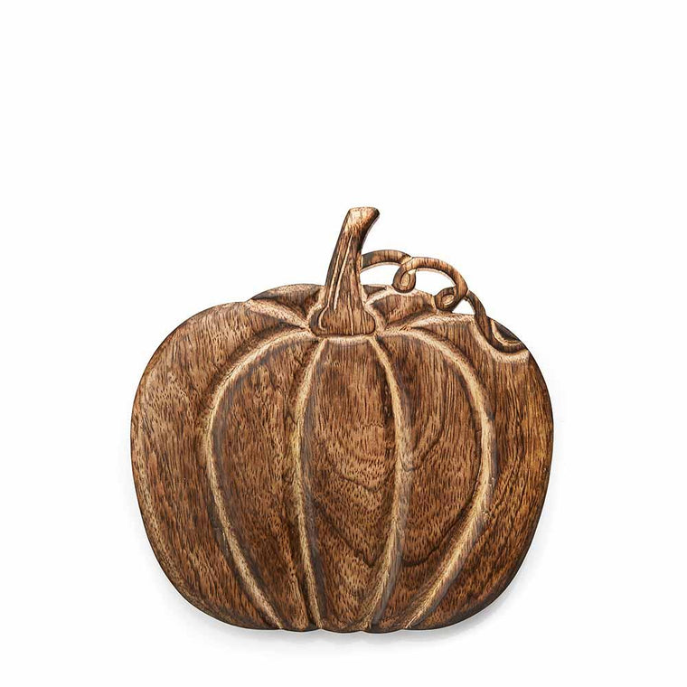Mango Wood Trivet- Pumpkin