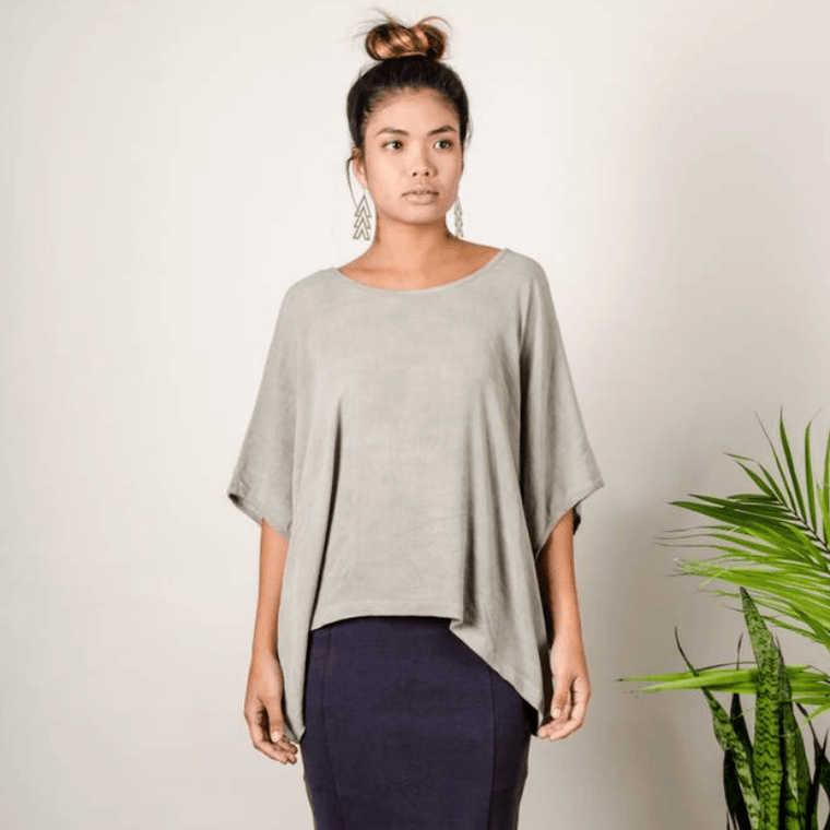 Free Flowing Nearady Top- Grey
