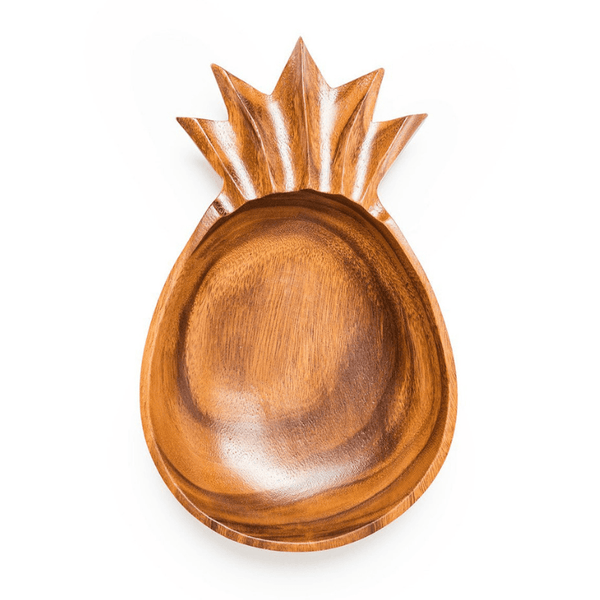 Sustainable acacia pineapple bowl