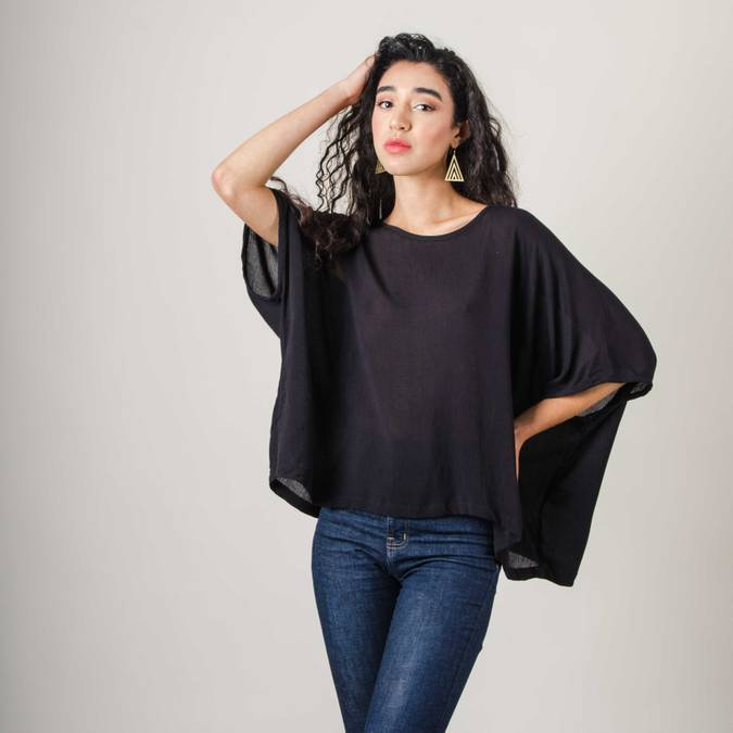 Free Flowing Nearady Top- Black