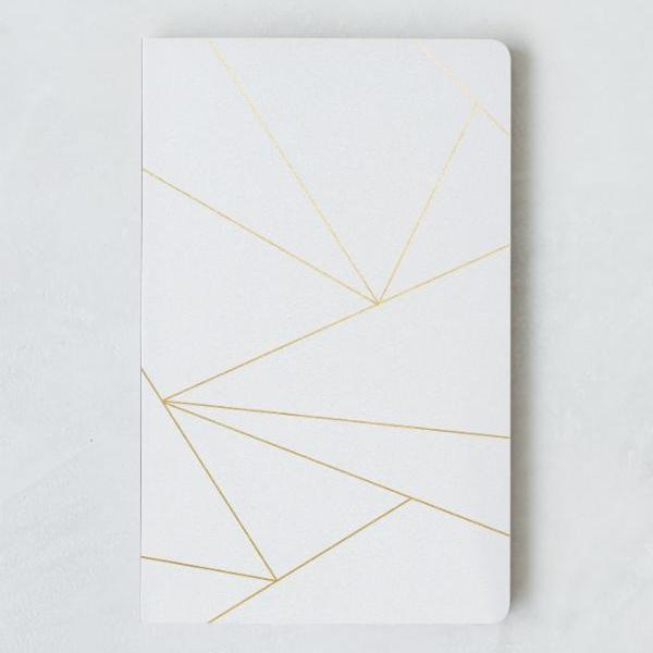 White Geo Lined Journal - Redemption Market
