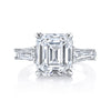 Emerald Cut Ring with Side Stones