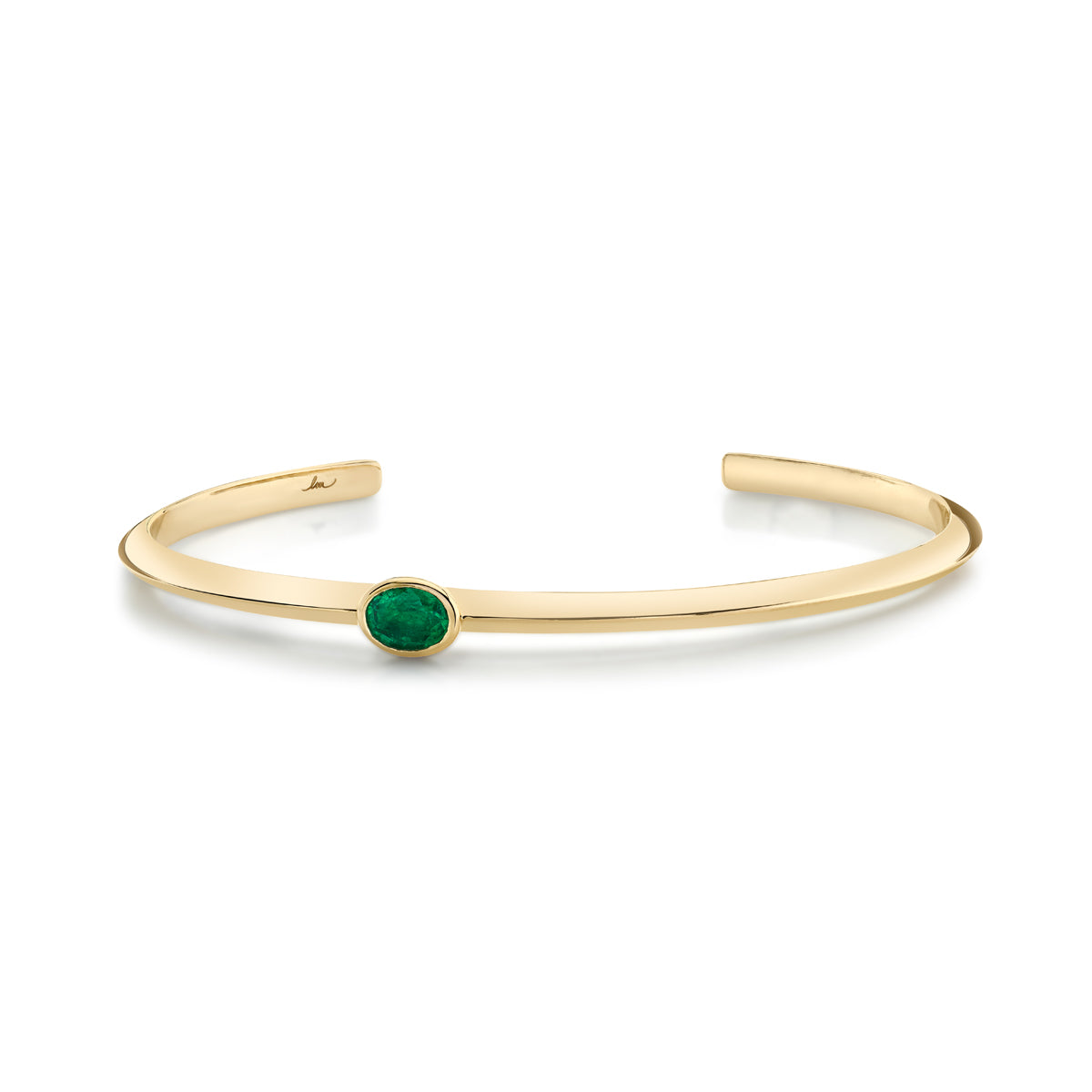 Oval Emerald Offset Cuff