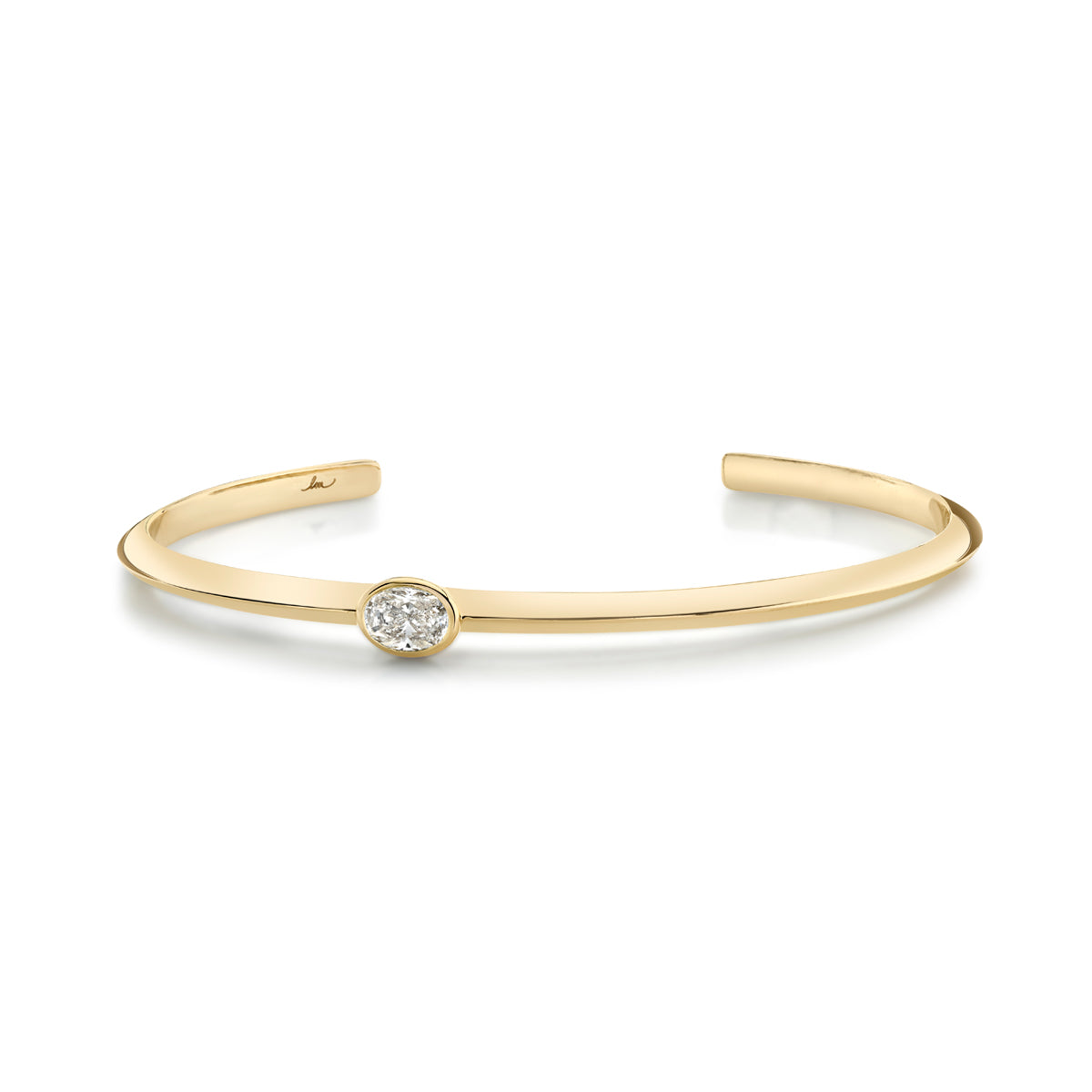 Oval Diamond Offset Cuff