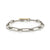 Mixed Metal Knife Edge Flat Link Bracelet
