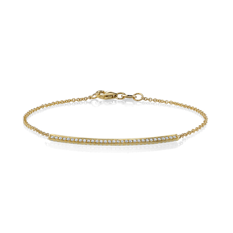 Pave Knife Edge Bar Bracelet