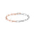 Mix Knife Edge Oval Link Bracelet