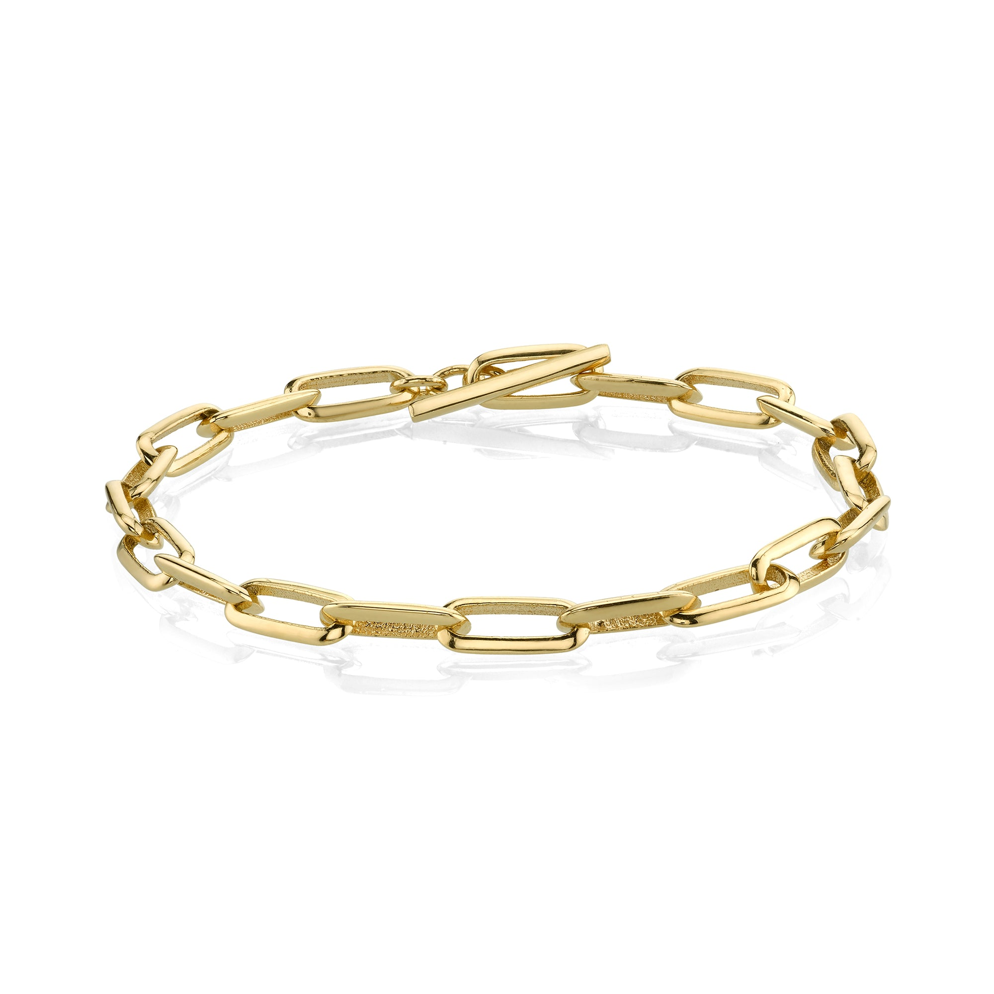 Knife Edge Oval Link Chain Bracelet