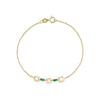 Mixed Alternating Emerald Baguette and XS Link Bracelet