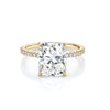 Cushion Cut with Pave Diamond Band and Hidden Halo