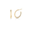 Double Knife Edge Pave Hoops