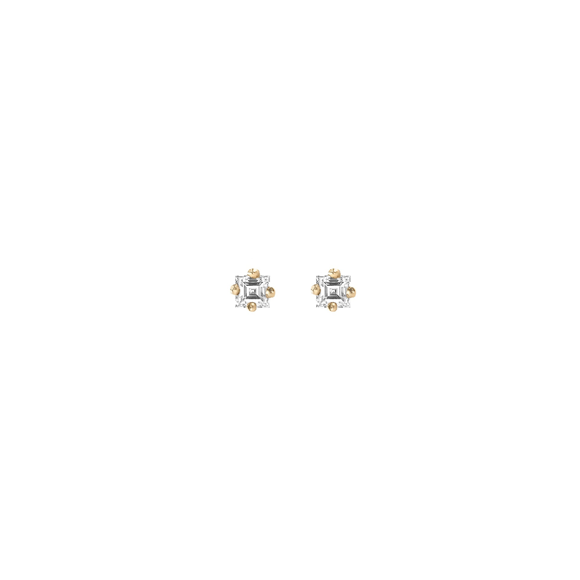 Carre Diamond Mini Stud
