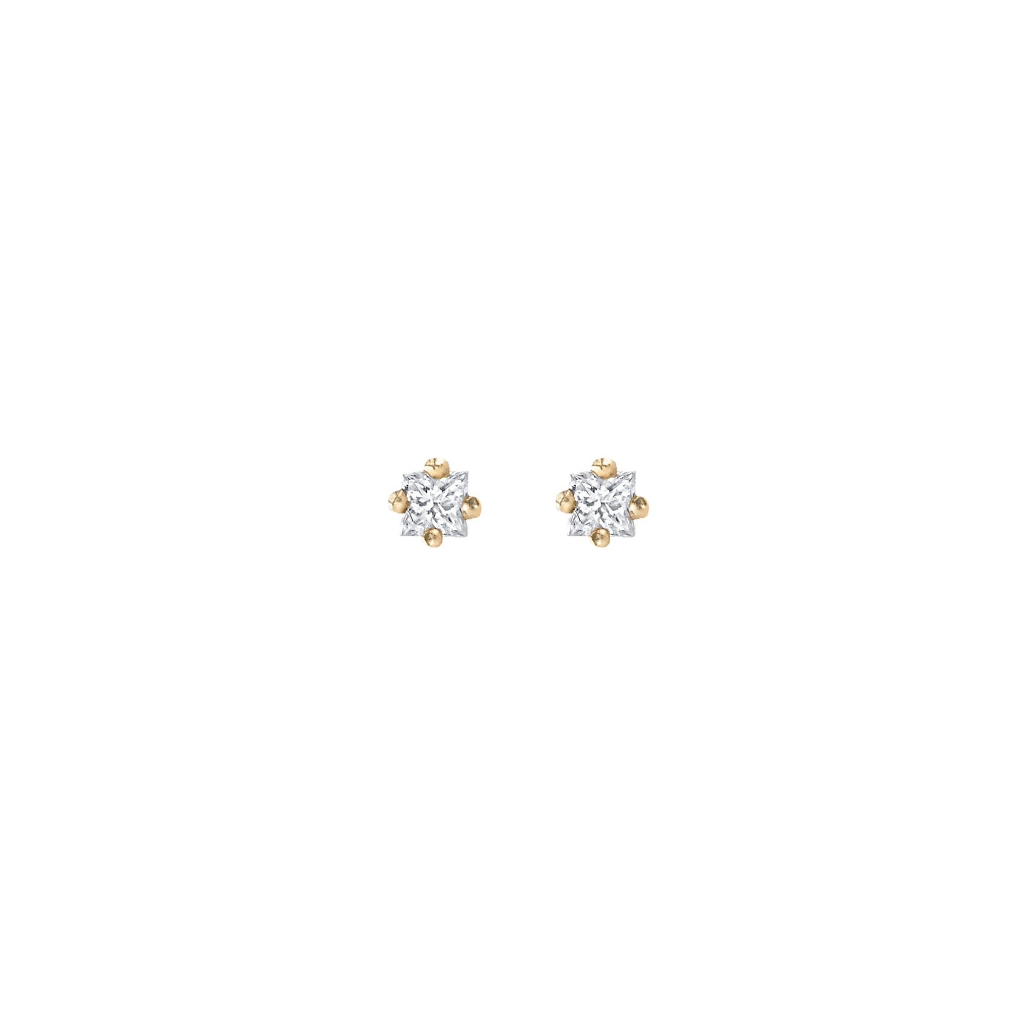 White Diamond Mini Princess Stud