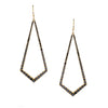 Black Diamond Kite Chandelier Earrings