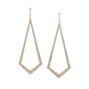 White Diamond Kite Chandelier Earrings