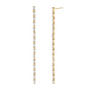 XL Baguette Link Drop Earrings