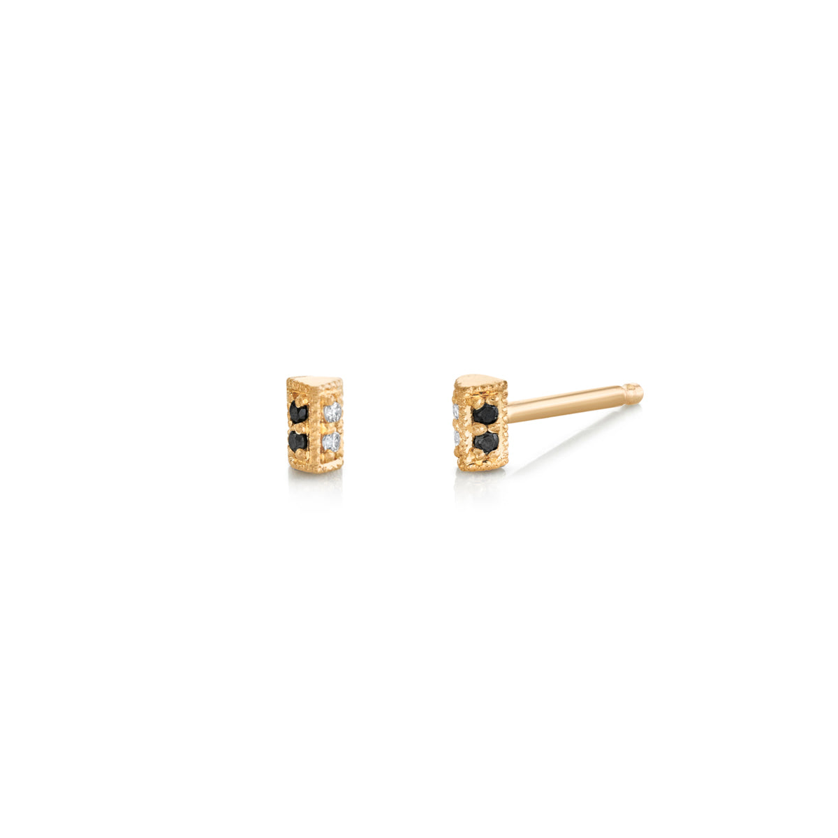 Mini Othello Pave Bar Stud
