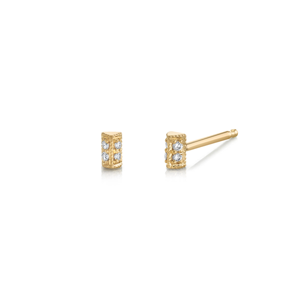 Mini Pave Bar Studs