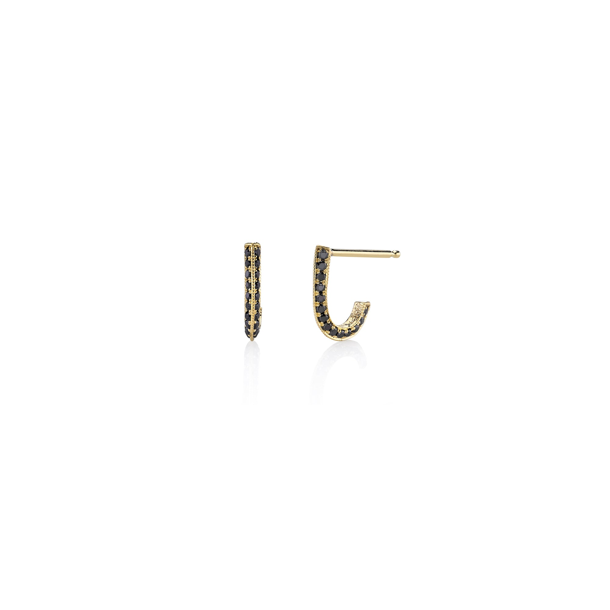 Pave Knife Edge Link Stud