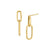 Double Knife Edge Drop Earrings