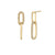 Alternating White Diamond Knife Edge Drop Earrings