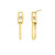 Princess Cut Diamond Double Knife Edge Drop Earrings