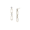 Éclat Double Link Drop Earrings