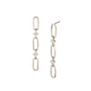 Éclat Triple Link Drop Earrings