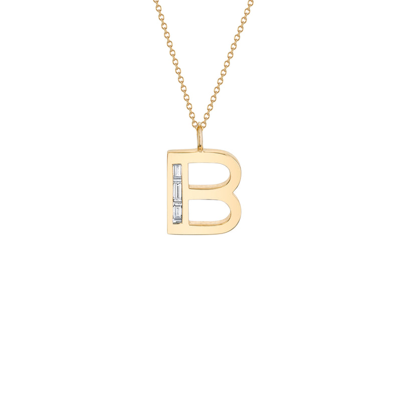 "Large Deco Initial 16"" Necklace"