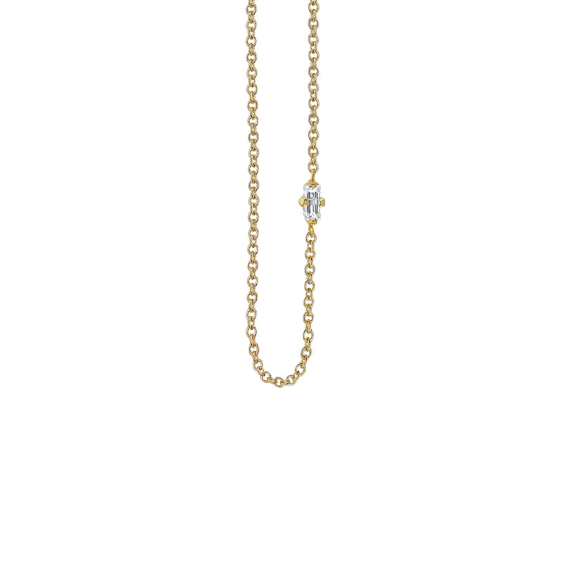 Baguette Floating Necklace