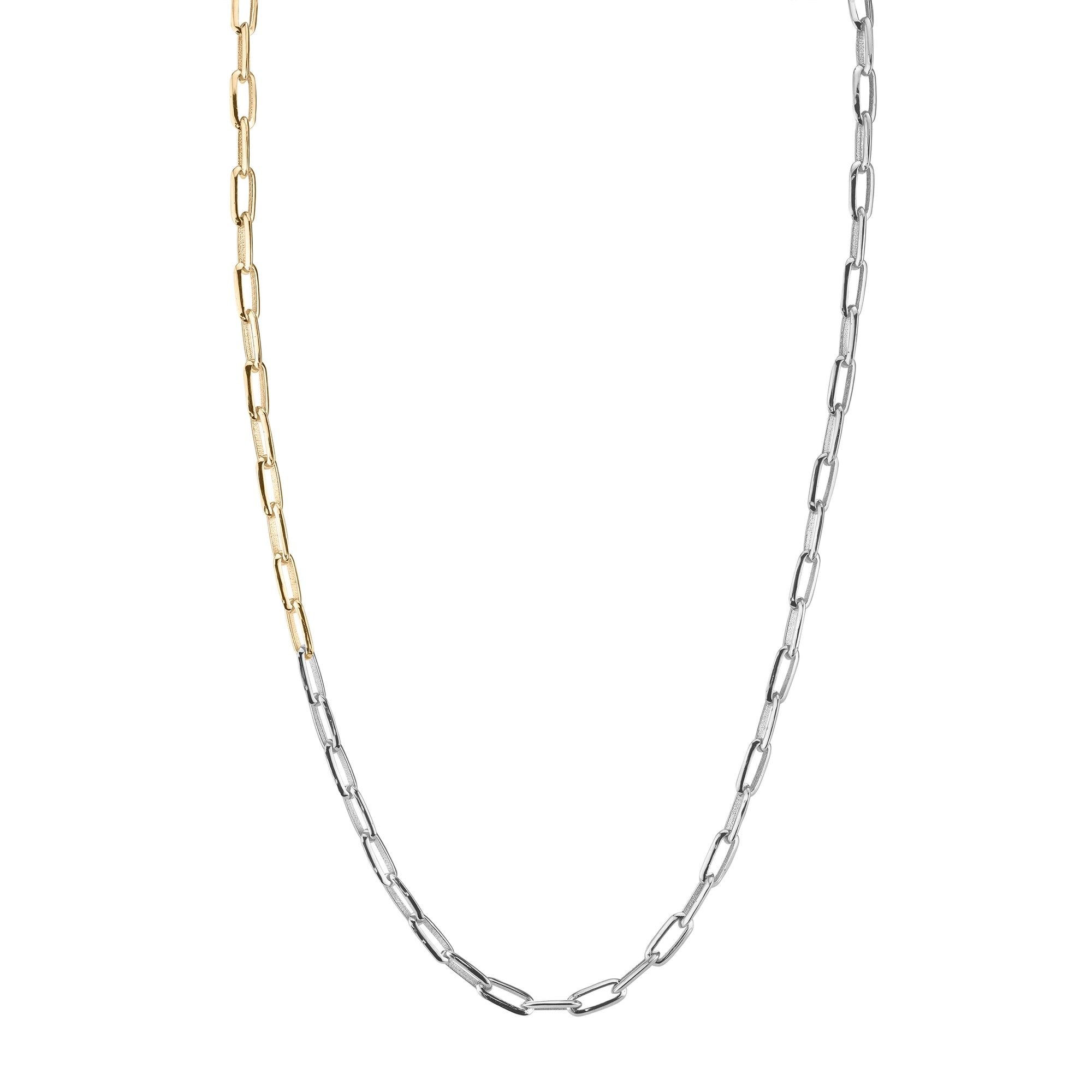 Silver and Gold Oval Link