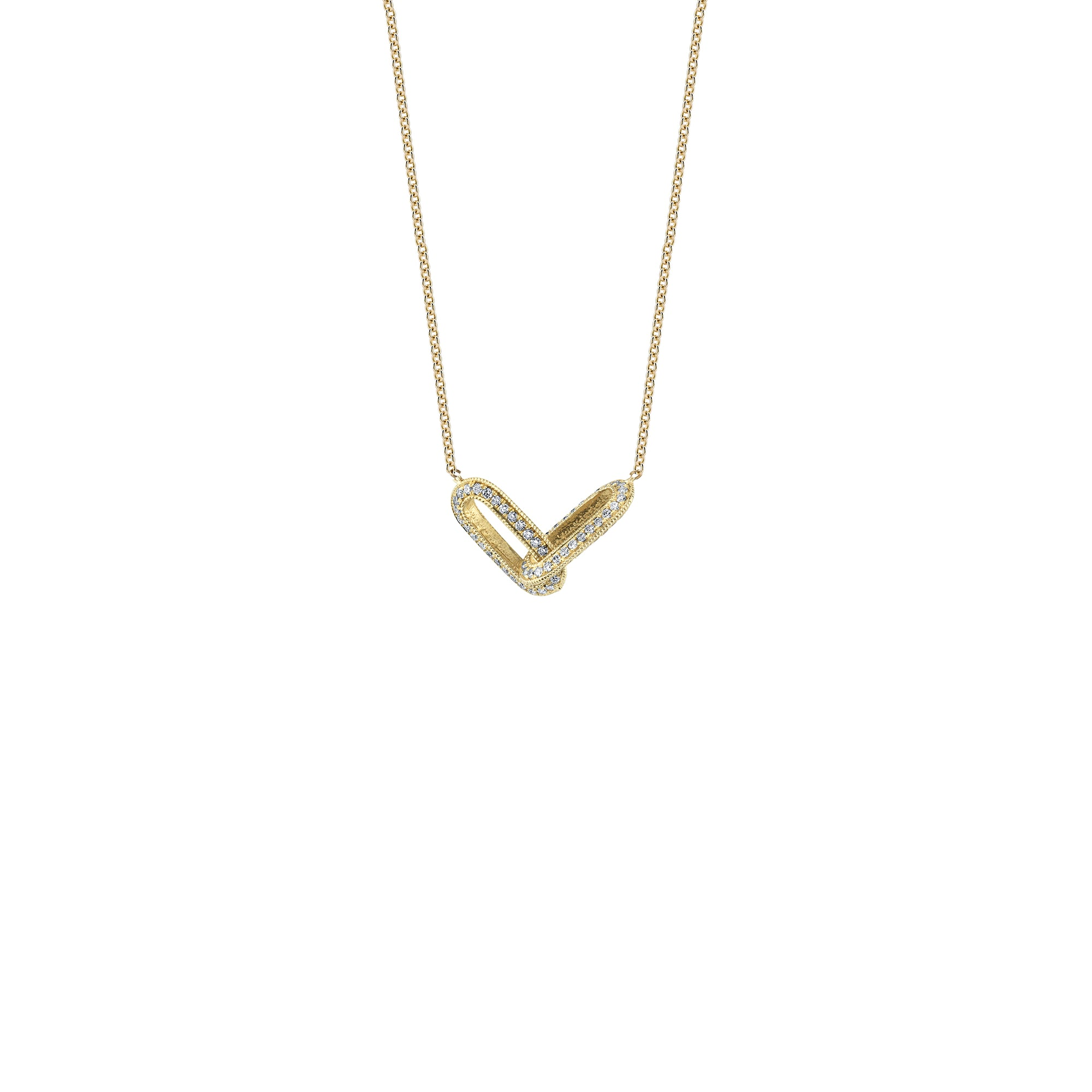 Pave Linked Necklace