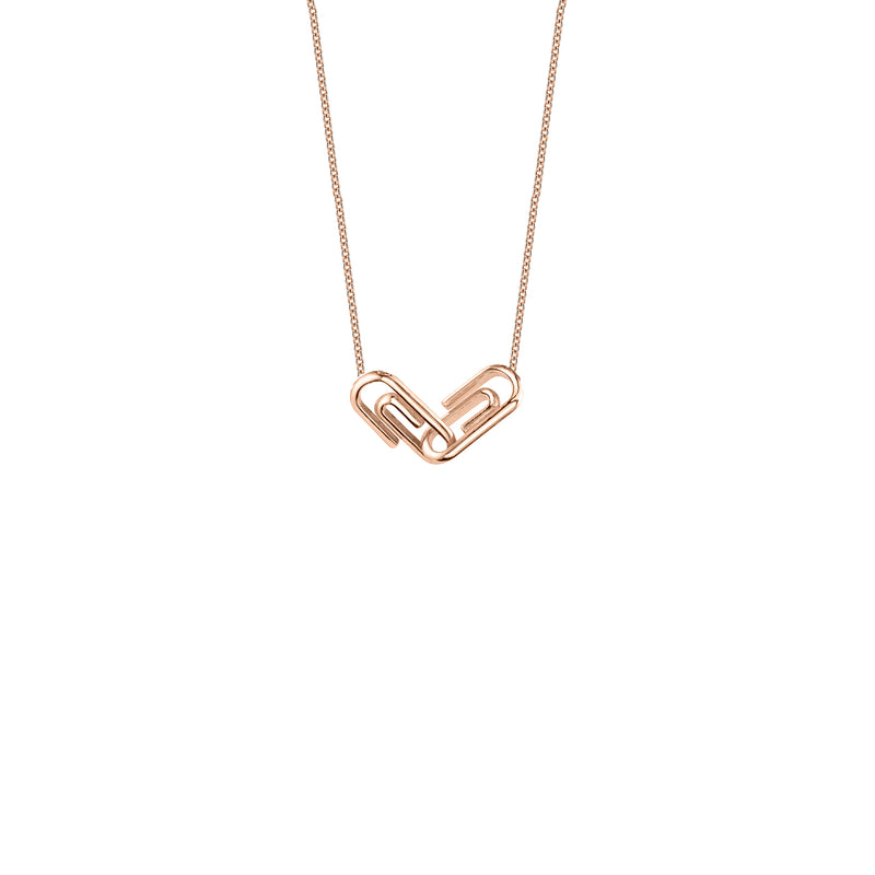 Mini Paper Clip Linked Necklace