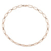 Flat Link Choker with Alternating Pave Diamond Bridges