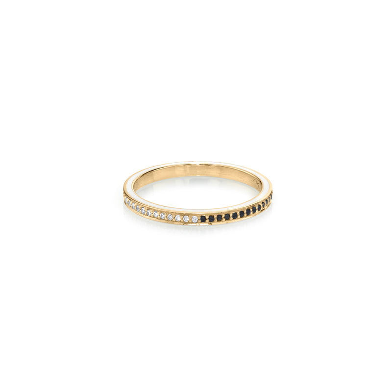 Othello Enamel Stackable Ring