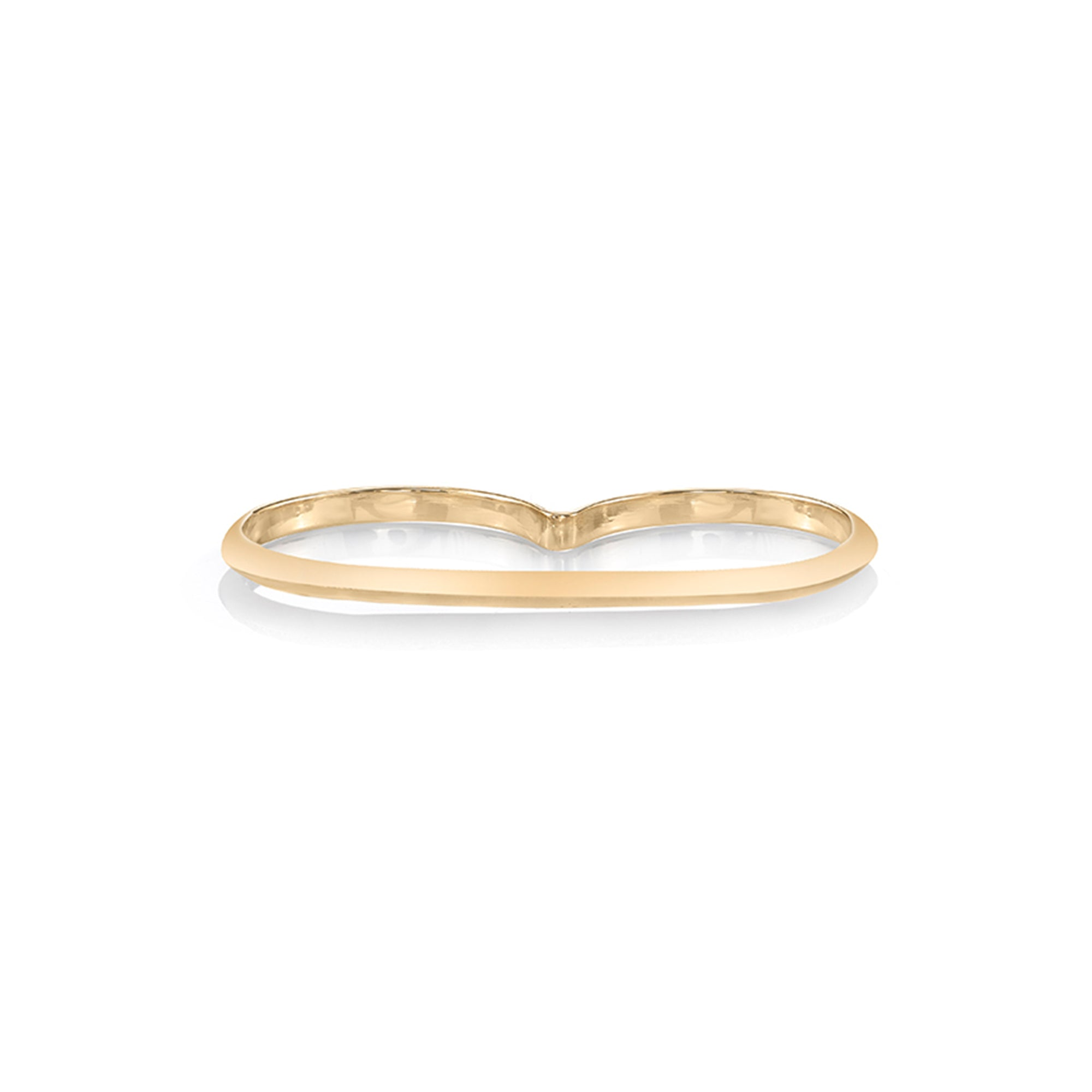 Basic Knife Edge Double Finger Ring